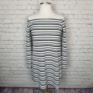NWOT- Charlotte Russe | Off Shoulder Striped Dress